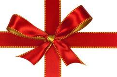 圣诞节查出的红色丝带白色 库存照片