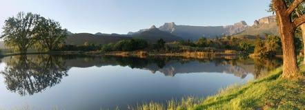 非洲南圆形露天剧场的全景 免版税库存图片