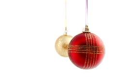 Χριστούγεννα δύο μπιχλιμπ& Στοκ εικόνες με δικαίωμα ελεύθερης χρήσης