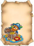 сокровище пирата пергамента Стоковое фото RF