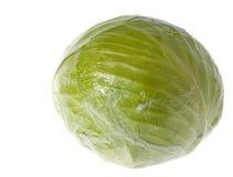 Λάχανο που τυλίγεται στο σελοφάν που απομονώνεται Στοκ φωτογραφία με δικαίωμα ελεύθερης χρήσης