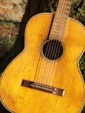老详细资料吉他 免版税库存图片