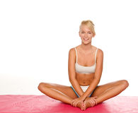 йога женщины Стоковые Изображения RF