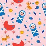 ανασκόπηση μωρών άνευ ραφής Στοκ Εικόνες