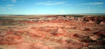 空中沙漠被绘的视图 免版税库存图片