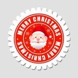 快活圣诞节的标签 免版税库存图片