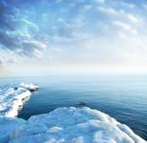 冰海岸 免版税库存照片