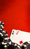 красный цвет карманн войлока тузов Стоковое Фото