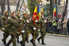 στρατιωτική παρέλαση Στοκ Εικόνες