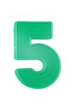 五个编号塑料 库存照片