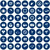 перемещение установленное иконами Стоковое фото RF