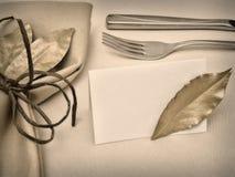 таблица сервировки Стоковые Изображения