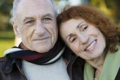 夫妇纵向前辈 免版税图库摄影