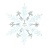 снежинка украшения рождества Стоковое Изображение RF