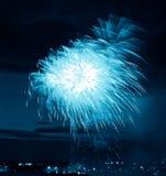 εορταστικό πυροτέχνημα Στοκ Εικόνες