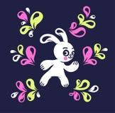 滑稽的野兔 库存照片