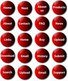 ιστοχώρος κουμπιών Στοκ Εικόνες