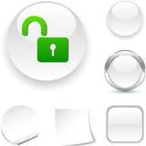 图标挂锁 免版税库存照片