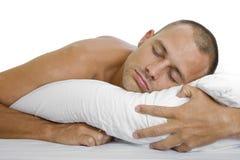 спать человека Стоковое фото RF