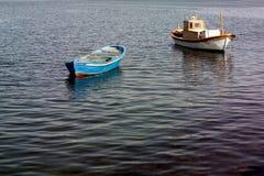 小船荡桨 库存图片
