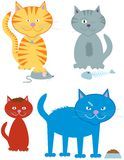 猫 向量例证