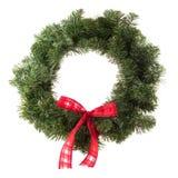 圣诞节绿色花圈 免版税图库摄影