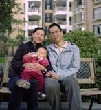 китайская семья Стоковое Фото