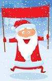 跳的圣诞老人 免版税库存图片