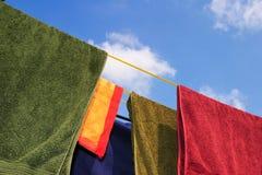线路洗涤物 免版税库存图片