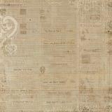 古色古香的背景褐色脏的报纸 免版税库存图片