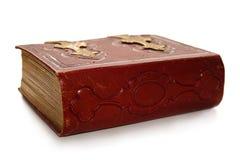 красный цвет античной книги закрытый Стоковые Изображения RF