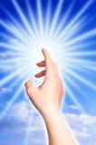 божественный касатьться света Стоковая Фотография
