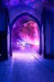 神秘的门 库存图片