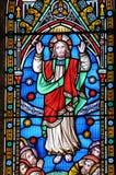 被弄脏的基督玻璃 免版税库存照片