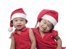 美丽的圣诞节姐妹 库存照片
