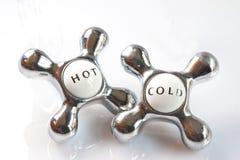 κρύες καυτές βρύσες Στοκ εικόνα με δικαίωμα ελεύθερης χρήσης