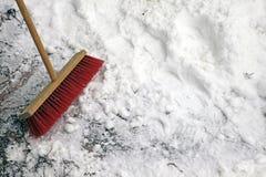 κόκκινο σκουπών Στοκ φωτογραφία με δικαίωμα ελεύθερης χρήσης