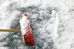 κόκκινο σκουπών Στοκ Εικόνες