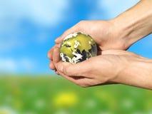 关心地球 免版税库存图片