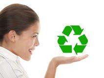 回收妇女 免版税库存照片
