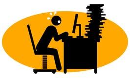 деятельность бизнесмена трудная Стоковое фото RF