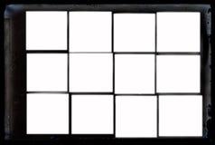 古色古香的框架脏的负照片 免版税库存图片