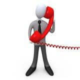电话技术支持 免版税库存照片