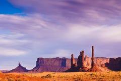 долина памятника после полудня светлая Стоковая Фотография