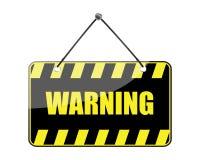 符号向量警告 库存照片
