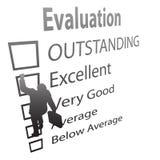 爬上雇员评价表改善 库存图片