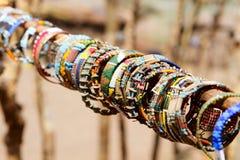 传统珠宝的马塞语 库存照片