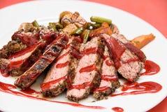 烤的牛肉 库存照片