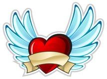 крыла сердца Стоковое Изображение