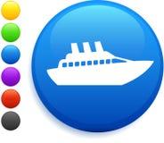 按巡航图标互联网来回船 库存照片